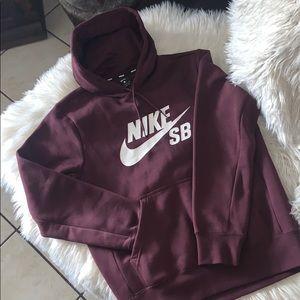 Nike sb icon burgundy hoodie crush men's sz s